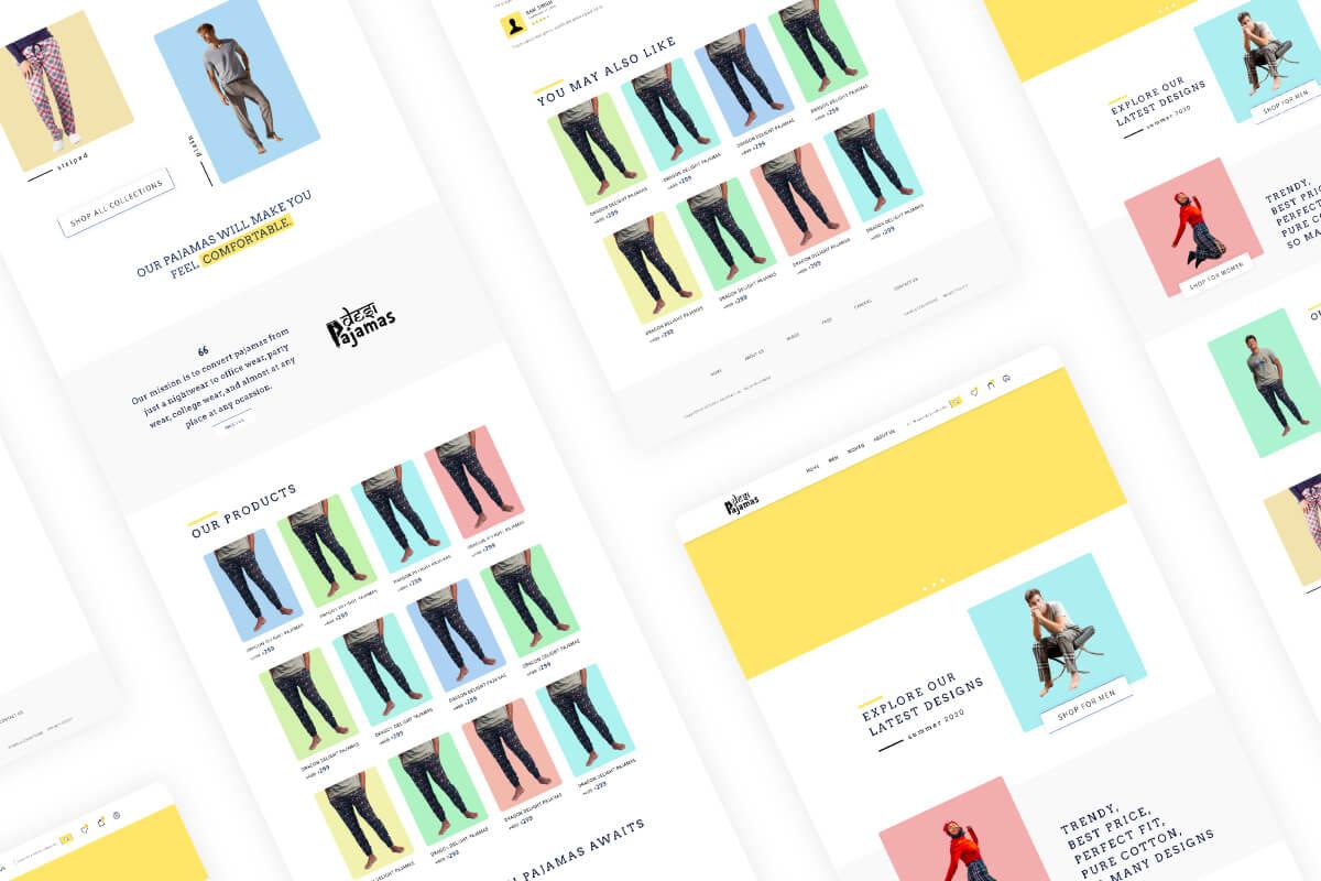 Desi Pajamas UI-UX Design Thumbnail