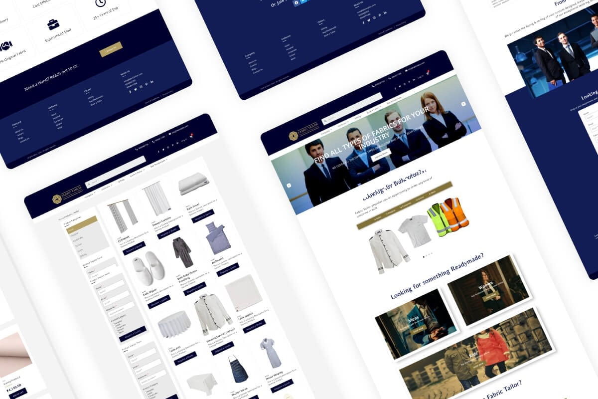 Fabric Tailor UI-UX Design Thumbnail