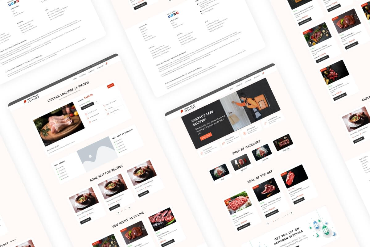 Fresh Meat Deliveryi UI-UX Design Thumbnail