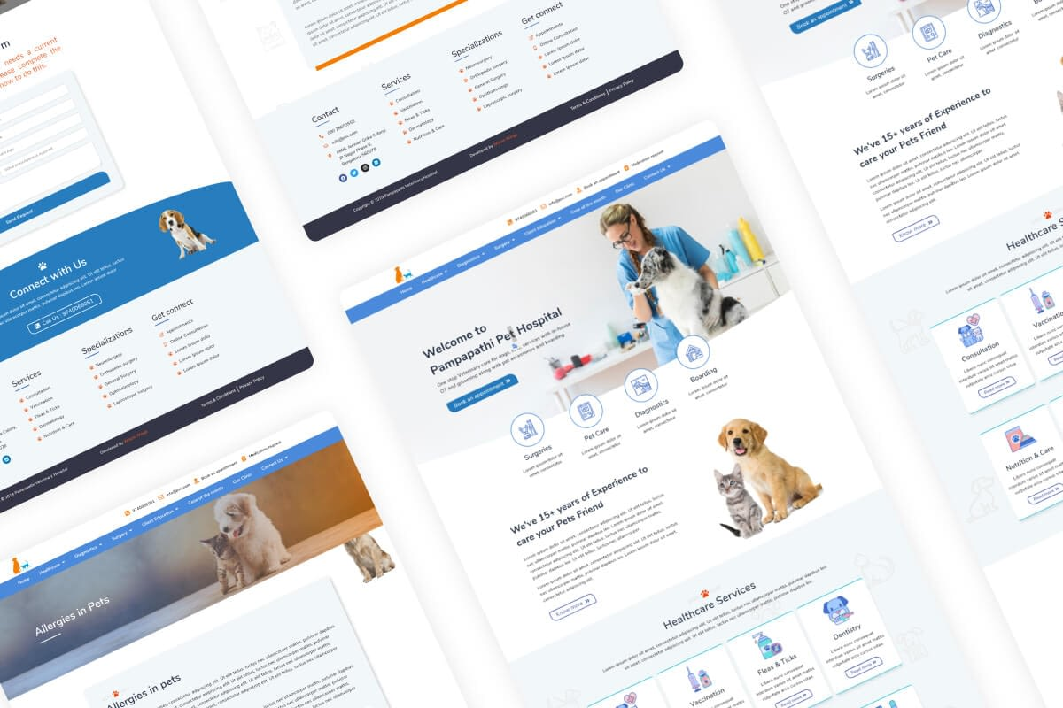 Pampapathi Vet Clinic UI-UX Design Thumbnail