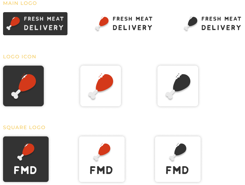Fresh Meat Delivery Logo