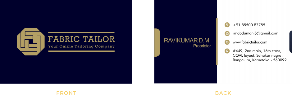 Fabric Tailor Business Card